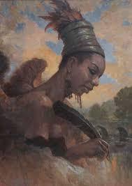 nina simone gary cooley oil on linen figurative art female head the black