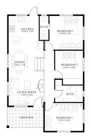 3 Bedroom Open Floor House Plans Creative Design Unique Decorating