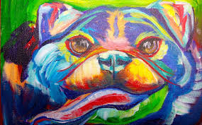 easy pug painting acrylic abstract dog painting the art sherpa you