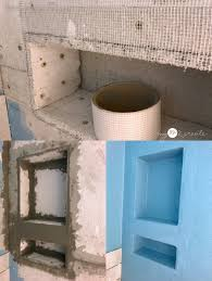 tape thin set and add water proofing membrane to shower niche