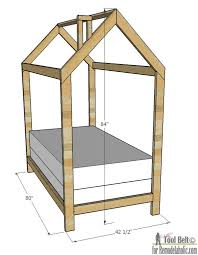 house frame twin bed building plan remodelaholic view larger