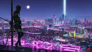 Neon Lights Cyber Ninja Boy 4k, HD ...