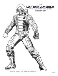 The Winter Soldier Captain America Coloring Page Printable
