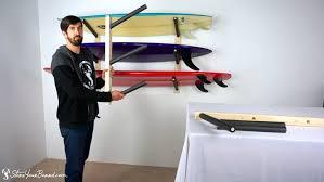 Surfboard Display Stand Surfboard Wall Rack Triple Wood Surf Rack StoreYourBoard YouTube 66