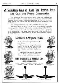 robbins myers fan wiring diagram robbins myers vintage fan smokstak early electric fans robbins myers list desk fans feb 15 1916 the electrical news toronto showing