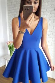 Simple A Line Homecoming Dress V Neck Sleeveless Party Dress Satin Short Prom Women Dresses Cutest Homecoming Dresses Dillard Homecoming Dresses From