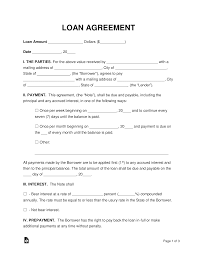 002 Template Ideas Loan Agreement Incredible Personal