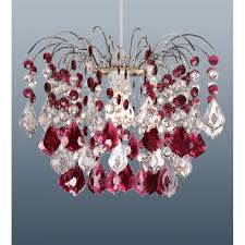 modern red garnet acrylic ceiling pendant light lamp chandelier shade
