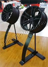 Alloy Wheel Display Stand Portable Mobile Tyre wheel rims Floor Stand Display Rack For Tire 36