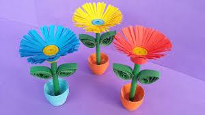 Paper Flower Pots Diy Quilling Miniature 3d Flower Pot How To Make 3d Flower Pot With Paper