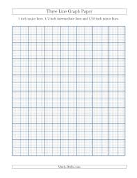 printable grid paper 1 2 inch three line graph paper with 1 inch major lines 1 2 inch