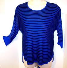 Dana Buchman Size Chart Tag Dana Buchman Size Ex Large Blue Black Boat Neck Sweater Top Slee