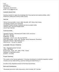 core java fresher - Core Java Resume