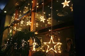 1 x loskii dx 336 220v led light string star shape curtain light