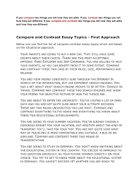 Compare And Contrast Essay On Two Friends Compare Contrast Essay Ideas