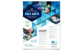 Ocean Aquarium Flyer Template Design