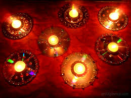 decorative diyas oil wax lamps using waste cd s artxplorez