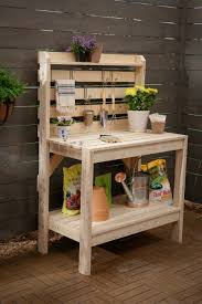 A Potting Table With A Twist  Project Plan  Fine GardeningPlans For A Potting Bench