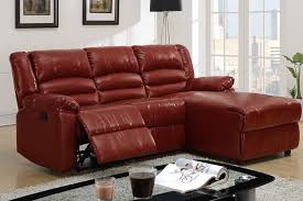 small burgundy leather reclining sectional sofa recliner right chaise