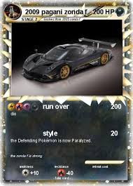 Pokémon 2009 Pagani Zonda F Run Over My Pokemon Card