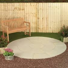 round patio. Living Stone French Limestone 2.4m Round Patio Paving Kit A