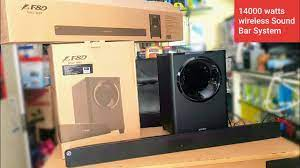 F&D T-388 14000watts UNBOXING WIRELESS SOUNDBAR SYSTEM WITH MOST POWERFUL  SUB WOOFER - YouTube