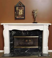 fireplace replacement doors. Versailles 72 Plaster Fireplace Mantel With Glass Doors And A Marble Surround Replacement