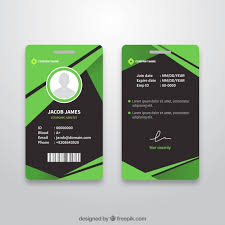 Card Design Template Abstract Id Card Template With Flat Design Vector Free