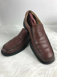 details about coach loafers brown leather geoffrey slip on casual moccasins shoes mens 11d