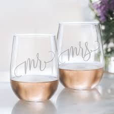 Stemless Wine Glass Decal Size Chart Mr And Mrs Wine Glass Set 20oz Etched Stemless Wine Glasses For Couples Perfect Engagement Party Bridal Shower Bachelorette Party Or Wedding Gift