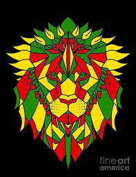 Rasta Lion Head Poster