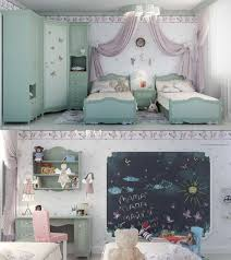 Small Bedroom With Two Beds Purple Color For Bedroom