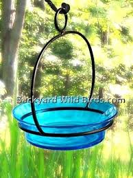 stained glass bird feeders patterns hanging aqua bath
