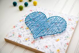 diy string art heart sign gift. Heart Pattern Printable