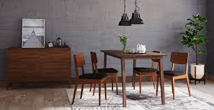 table 4 chairs. bristol dining table and 4 mokuzai chairs e