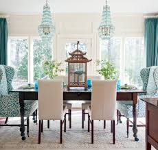 blue dining room furniture. The Advantages And Disadvantages Of Woven Chairs : Attractive Dining Room Design With Rectangular Dark Blue Furniture