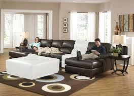 Black Leather Sectional Sofa With Recliner Recliners Superb Leather Sectional Sofa Recliner For House