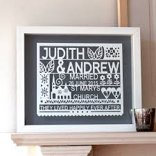 personalised wedding gift paper cut wall art on personalized wedding gifts wall art with personalised wedding gift paper cut wall art by ant design gifts