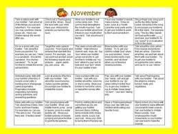 Toddler/preschool Speech & Language Activity Calendar-November | Tpt