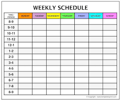 Weekly Calendar Template With Time Slots Guve Securid Co