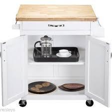 kitchen island cart white. 3 Of 4 White Kitchen Island Cart Mobile Portable Rolling Utility Storage  Cabinet Wood Kitchen Island Cart White