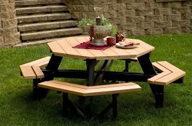 adorable hexagon picnic table kit and berlin gardens octagon picnic table from dutchcrafters amish furniture
