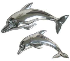 on dolphin wall art metal with pair of dolphins wall art wowpieces