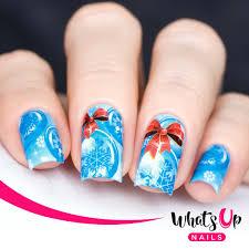 Whats Up Nails – Chillin' Snowflakes Water Decals | Nail Art UK