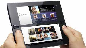 Sony Tablet P: Dual-Screen Foldable Tablet from CES 2012 - YouTube