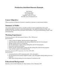News Production Assistant Resume Sample Fascinating Templates No