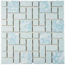 merola tile academy blue 11 3 4 in x 11 3 4 in x 5 mm porcelain mosaic tile