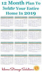 de clutter free 2019 printable declutter calendar 15 minute daily missions