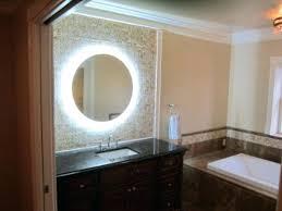 illuminated bathroom mirror sensor shaver socket – luannoe
