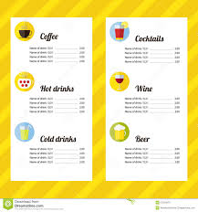 Free Drink Menu Template drink menu template Ninjaturtletechrepairsco 1